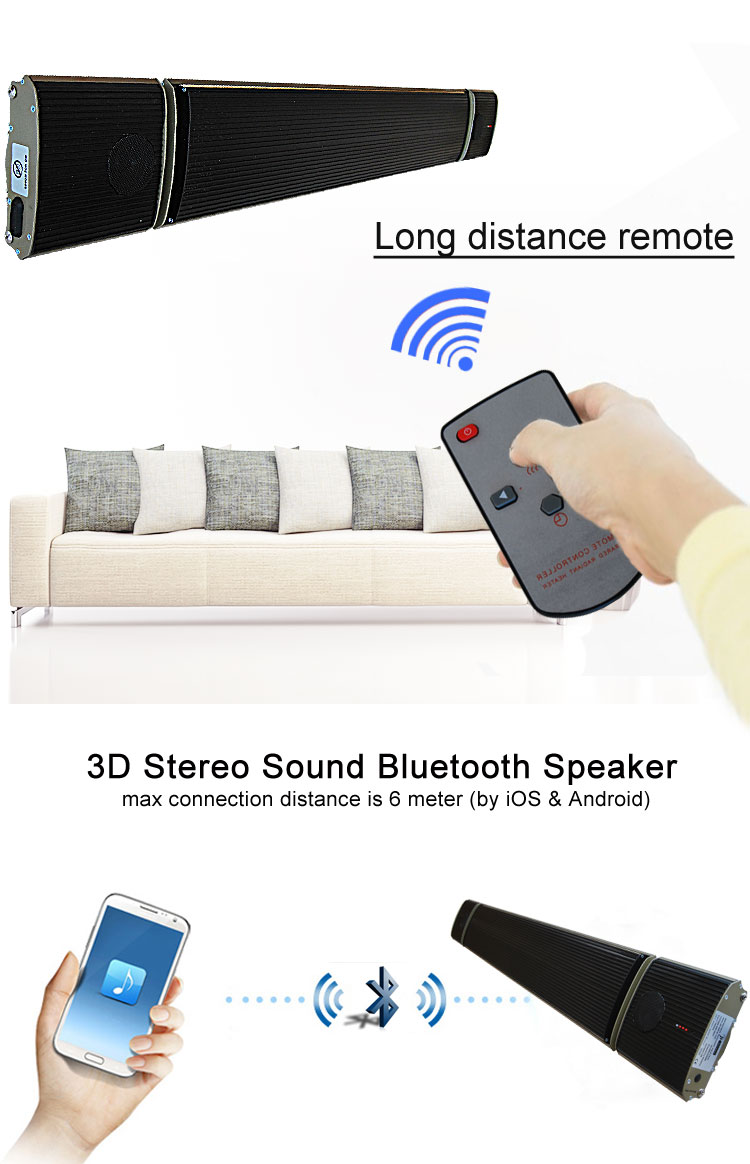 JH Bluetooth control music heater